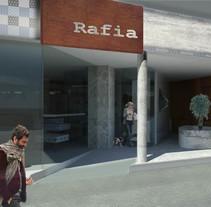 Rafia, floristeria café. Um projeto de 3D, Arquitetura de interiores e Design de interiores de Anna Cubillo Urpí         - 31.10.2013
