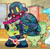 El Señor que Vive en el Baño. Un proyecto de Diseño e Ilustración de Doctor Juanpa  - Lunes, 15 de julio de 2013 15:34:39 +0200