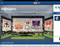 AFL iPad video client app. A Advertising, Software Development, Film, Video, and TV project by juanan jimenez - 28-08-2013