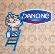 "Danone ""servilletas retro"". A Design, Illustration, and Advertising project by Ruth Jiménez Baños         - 02.09.2013"
