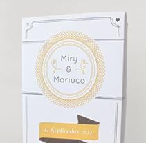 Miry & Mariuco {Invitación de Boda}. A Design&Illustration project by Gonzalo Rivas         - 10.10.2013