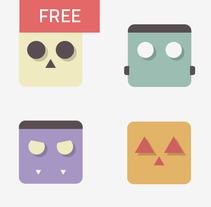 Halloween FREE icon set. Um projeto de Design, Ilustração e UI / UX de Miguel Payà Sanchis         - 19.10.2013