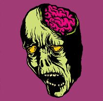 Zombie Stickers. A Design&Illustration project by Kaeru          - 24.11.2013