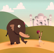Punjab, el elefante aventurero. A Illustration project by grisArdilla         - 27.11.2013