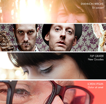Music Label Web Site. A Design, Music, Audio, and Photograph project by Olga  - 28-11-2013