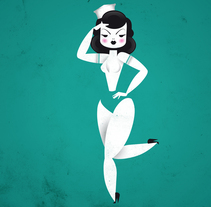 Vintage Girls. A Illustration project by Marco Recuero - Dec 01 2013 12:00 AM