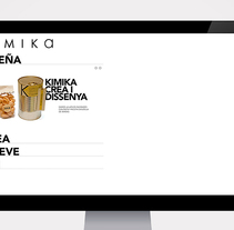 KIMIKA WEB. A Design, Illustration, and Advertising project by Adalaisa  Soy - Dec 04 2011 12:00 AM