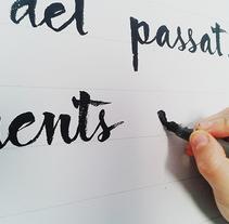 Josep Plà - Cal·ligrafia. Un proyecto de Diseño de Xavi Teruel - 01-06-2013