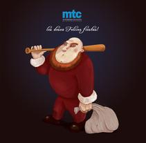 Un Santa para los tiempos que corren. Um projeto de Ilustração de walter swinney         - 11.12.2013