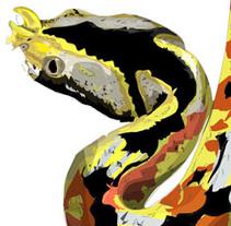 zoo bamako # mali / reptiles. Um projeto de Ilustração de david garcía         - 16.12.2013