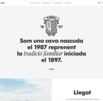 Web bodega Maria Rigol Ordi. Cava familiar. . A Design, and Software Development project by Atipus  - Dec 23 2013 12:00 AM