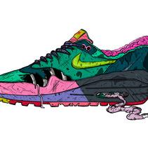 """Nike am1 """"Z"""". Un proyecto de Diseño, Ilustración y Publicidad de Chiko  KF - Viernes, 20 de diciembre de 2013 00:00:00 +0100"""