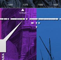 Interactivo educativo. Friso de la historia. Un proyecto de Diseño, Desarrollo de software y UI / UX de david  lasheras  - 08-01-2014