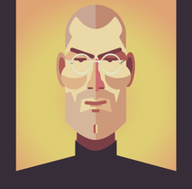 Steve Jobs. A Design&Illustration project by Federico Cerdà - 01.21.2014