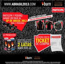 Concurso Burn - GP Brasil F1. Un proyecto de Dirección de arte, Gestión del diseño, Diseño gráfico y Diseño Web de Álvaro Infante - 30-09-2013