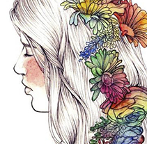 Fleurs d'aquarelle. A Design, Illustration, and Fine Art project by Tamara Castro Laplaña - 07-02-2014