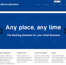 Web corporativa de HtBooking Solutions. A Education, Web Design, and Web Development project by Punto Abierto         - 23.02.2013