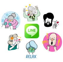 LINE Stickers - A Funny Crew. A Design project by Alejandra Morenilla - 03-02-2014