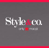 Style&Co. Pieza publicitaria. Un proyecto de Fotografía y Diseño gráfico de Marta Páramo Vicente         - 31.12.2013