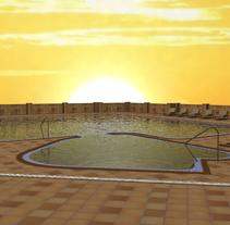 Piscina Hotel Monte Igueldo. Un proyecto de 3D, Arquitectura interior y Diseño de interiores de Aitor Hernández Gómez - 12-03-2014