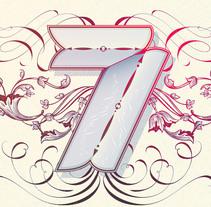 7th Anniversary Letterings. Un proyecto de Ilustración, Dirección de arte y Tipografía de Noem9 Studio - 18-03-2014