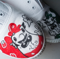 Mario & Luigi. A Illustration project by Sergio Rodríguez Rodríguez - Mar 25 2014 12:00 AM