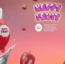 3D HAPPY FRUIT Packaging by Macedadesign. A Design, Advertising, Motion Graphics, 3D, Art Direction, Br, ing, Identit, Creative Consulting, Fine Art, Graphic Design, Marketing, Packaging, Post-Production, and Product Design project by Maceda Design - 04-04-2014