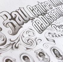 Orla para la 1ª promoción del Grado en Diseño de Bau.. Un proyecto de Diseño gráfico y Tipografía de Ivan Castro - 06-04-2014