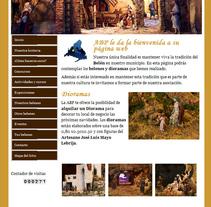 Asociación de Belenistas Pozuelo de Alarcón. Um projeto de Web design de Cristina  Álvarez          - 08.10.2011