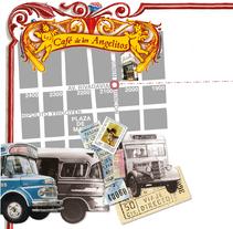 Entero postal 80 Años del colectivo en Buenos Aires. A Design, Br, ing, Identit, and Graphic Design project by Julieta Giganti - 31-10-2010