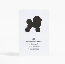 Leo - Perruqueria Canina. A Information Architecture, Br, ing, Identit, Design, and Graphic Design project by Anna Pigem - 01.01.2014