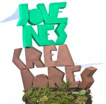 Papercraft lettering Jovenes Creadores 2012. Um projeto de Design gráfico de Carlos Vidriales Sánchez         - 08.02.2012