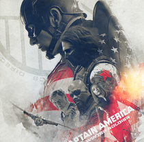 The Winter Soldier. A Illustration project by Laura Racero         - 13.04.2014