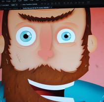 """Vispo"" el surfista.. A Illustration, and Character Design project by Alejandro Bernatzky         - 05.05.2014"
