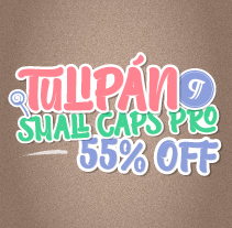 Tulipán Broken Caps PRO - Available on Myfonts 55 % off. A T, and pograph project by Felipe Calderón Arteaga  - 06-05-2014