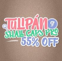 Tulipán Broken Caps PRO - Available on Myfonts 55 % off. Un proyecto de Tipografía de Felipe Calderón Arteaga  - 06-05-2014