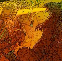 Godzilla . Un proyecto de Cine, vídeo, televisión, Diseño de personajes e Ilustración de Chiko  KF - Viernes, 25 de abril de 2014 00:00:00 +0200