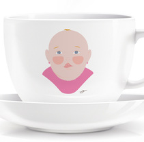 Tazas familiares. A Illustration project by Elvira Rojas         - 11.05.2014