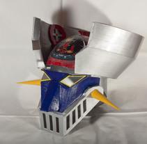 Casco Mazinger Z. Um projeto de Artesanato de Jose Maria Gallego Guillen         - 08.03.2014