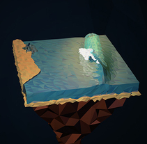 Surf Art 3D - LowPoly. A 3D, L, and scape Architecture project by Alejandro Bernatzky         - 16.05.2014