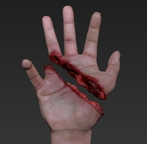 3D HAND _ Medical illustration to walking dead XD. A 3D, and Art Direction project by Ismael Alabado Rodriguez - May 17 2014 12:00 AM