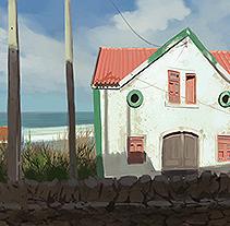 Google street View Studies . Um projeto de Ilustração, Artes plásticas, Paisagismo e Pintura de Carlos Garijo         - 20.05.2014