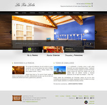 Casa Rural Tia Lola - Pagina XHTML desarrollada para hostal - casa rural. A Design, and Web Design project by Color Vivo Internet          - 06.04.2014