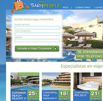 Web Viajesturypeople. A Illustration, Graphic Design, and Web Design project by Alejandro Sáez (TLM)         - 29.09.2013