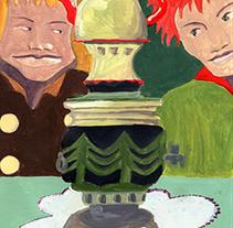 """""""LA PARTIDA"""", historieta gràfica. PINTURA ACRÍLICA. Um projeto de Ilustração, Design de personagens e História em quadrinhos de Miquel Oller Canet         - 01.06.2014"""