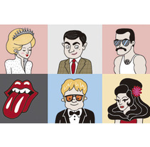 LONDON ICONS. A Illustration, Character Design, and Events project by Alejandra Morenilla - 29-05-2014