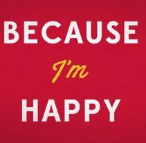 Kinetic Typography - Happy - Pharrell Williams. Un proyecto de Motion Graphics, Animación y Tipografía de Nuria Piñol - 13-06-2014
