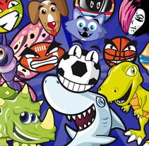 Recopilación de diseño de personajes estilo cartoon. Un proyecto de Diseño de personajes e Ilustración de David Figuer - Lunes, 16 de junio de 2014 00:00:00 +0200