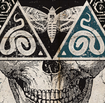 CEMENTERIO | tour poster. Un proyecto de Diseño, Ilustración, Publicidad y Diseño gráfico de alejandro escrich - 08-09-2013