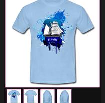 Diseño Camiseta. Un proyecto de Diseño, Ilustración, Publicidad, Diseño de vestuario, Moda, Diseño gráfico y Serigrafía de Soraya  Rivas - 18-03-2012